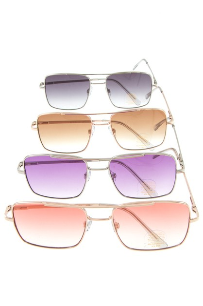 SQUARE COLOR LENS AVIATOR SUNGLASSES - orangeshine.com