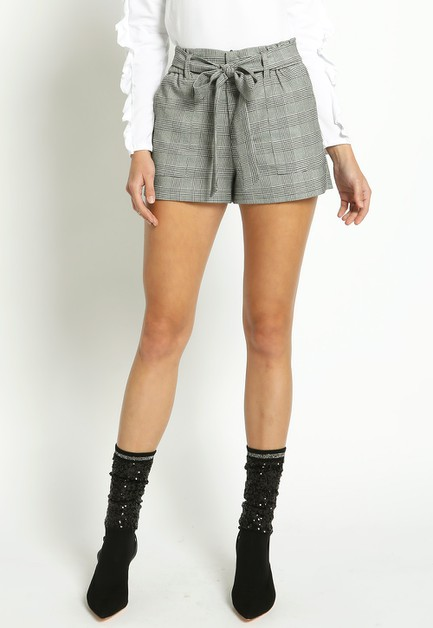 TARTAN PANTS WITH SELF TIE WAISTBAND - orangeshine.com