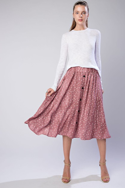 Button Down Skirt - orangeshine.com