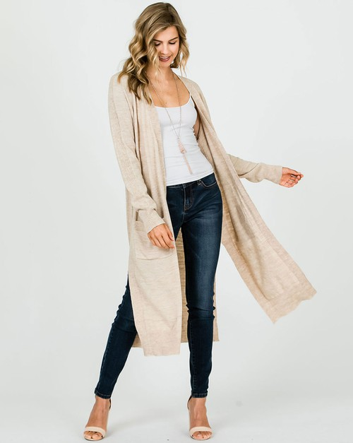 WOOL LONG DUSTER CARDIGAN - orangeshine.com