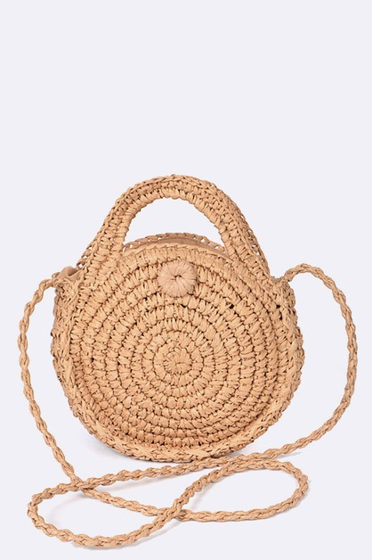 Woven Straw Iconic Crossbody Bag - orangeshine.com