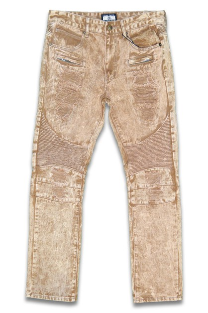 Distress Stretch Denim Skinny Jeans - orangeshine.com