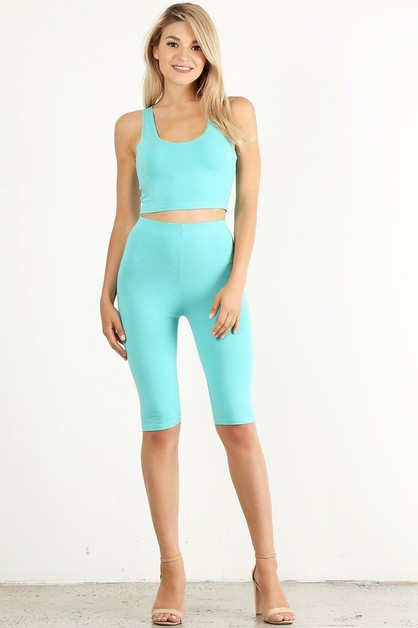 Crop Tank Biker Set - orangeshine.com