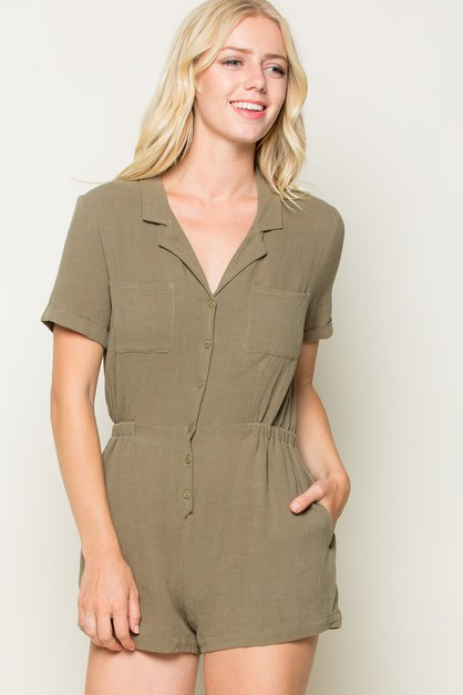 BUTTON DOWN SHIRTS ROMPER - orangeshine.com