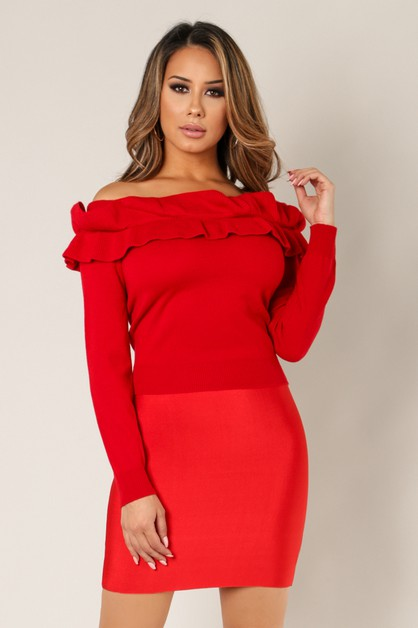 Peplum Off Shoulder Top - orangeshine.com