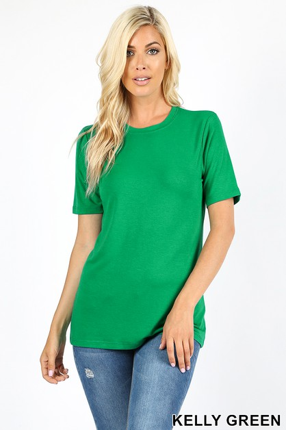 SHORT SLEEVE ROUND NECK TEE - orangeshine.com