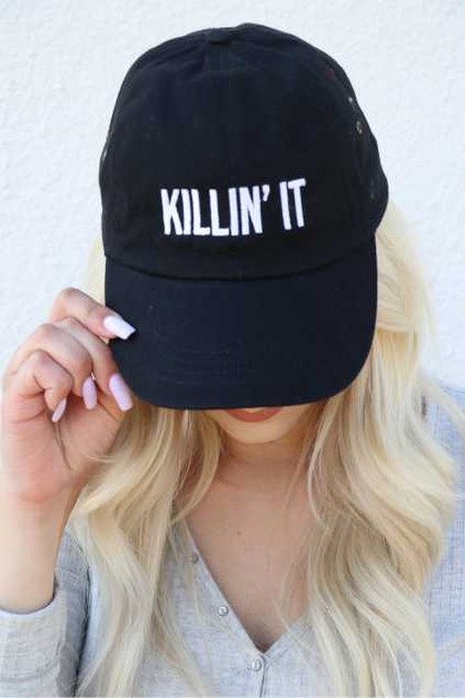 Killin It Embroidered Twill Hat - orangeshine.com