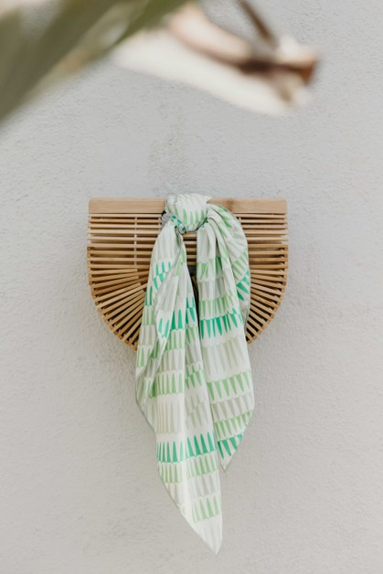 Mint Square Hair Scarf - orangeshine.com