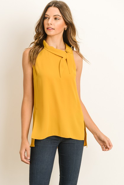 Vintage Sleeveless Blouse  - orangeshine.com