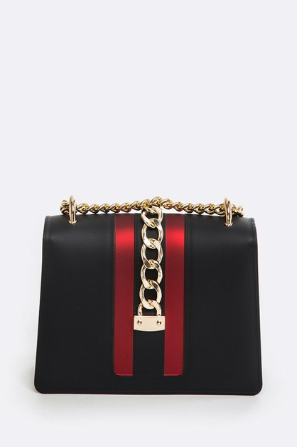 Chain Buckle Jelly Convertible Bag - orangeshine.com