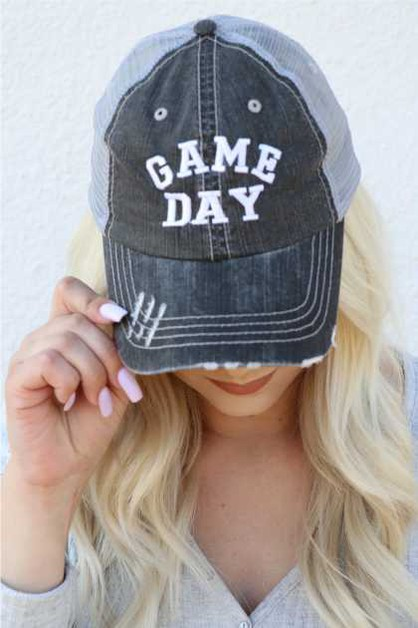 Game Day Embroidered Hat - orangeshine.com
