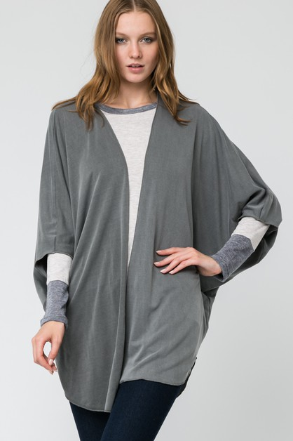 LOOSE FIT THIGH LENGTH CARDIGAN  - orangeshine.com