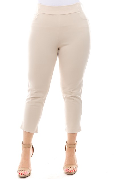 Solid Ankle pants - orangeshine.com