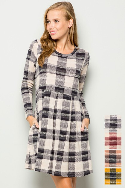 Plaid sweater dress - orangeshine.com