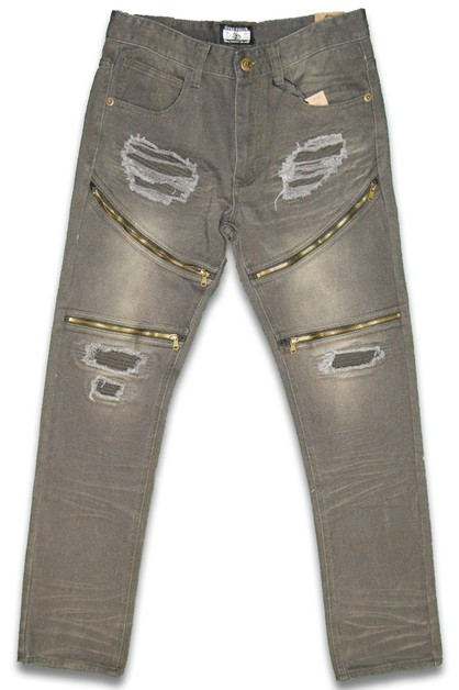 Distressed Stretch Denim Skinny Jean - orangeshine.com