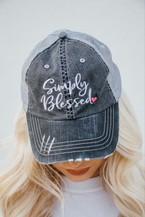 Simply Blessed Heart Trucker Hat - orangeshine.com