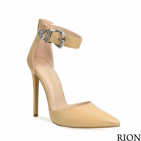 POINTY TOE ANKLE STRAP PUMPS - orangeshine.com