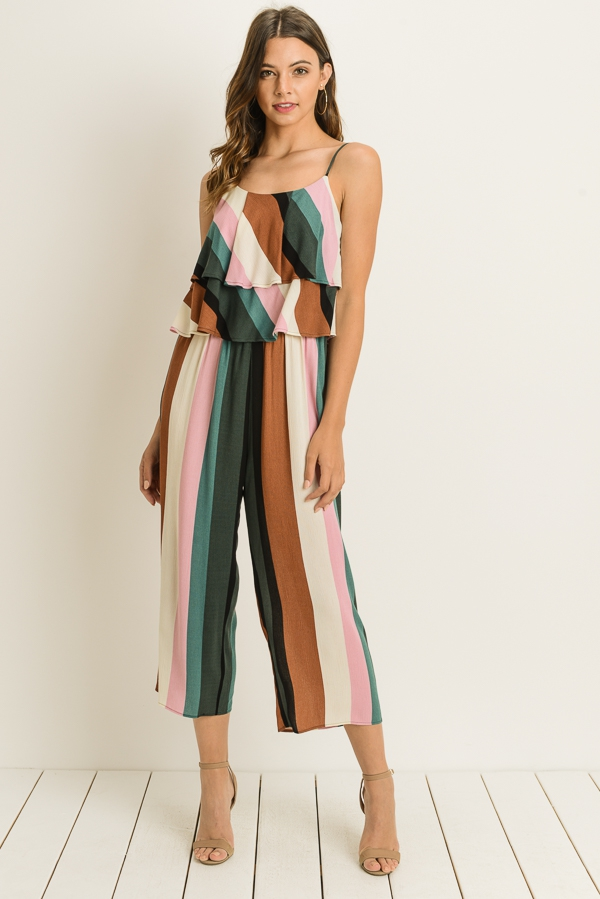8f075eef15 LELIS COLLECTION - Striped Ruffled Jumpsuit