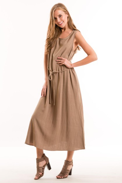 Linen Dress with Pockets - orangeshine.com