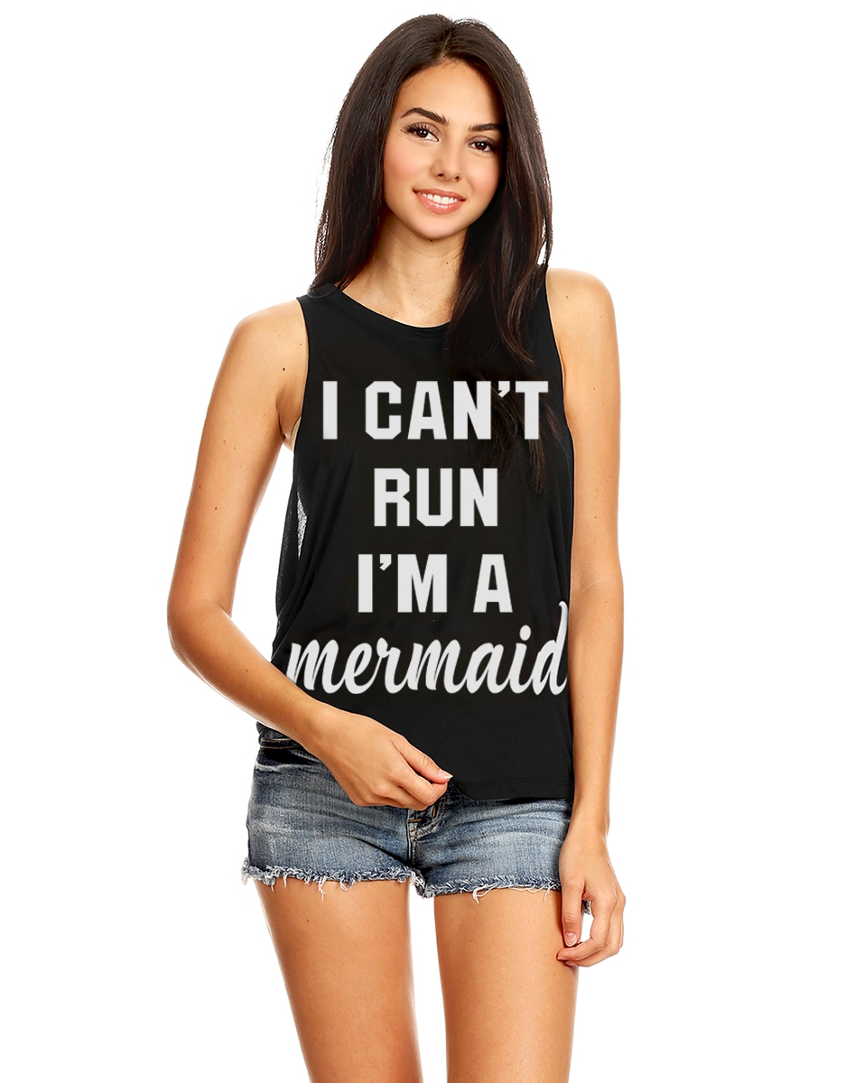 MERMAID urban graphic muscle tank  - orangeshine.com