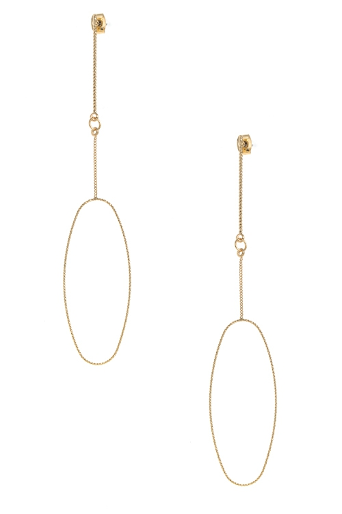 TEXTURED OVAL ORNATE DROP EARRING - orangeshine.com