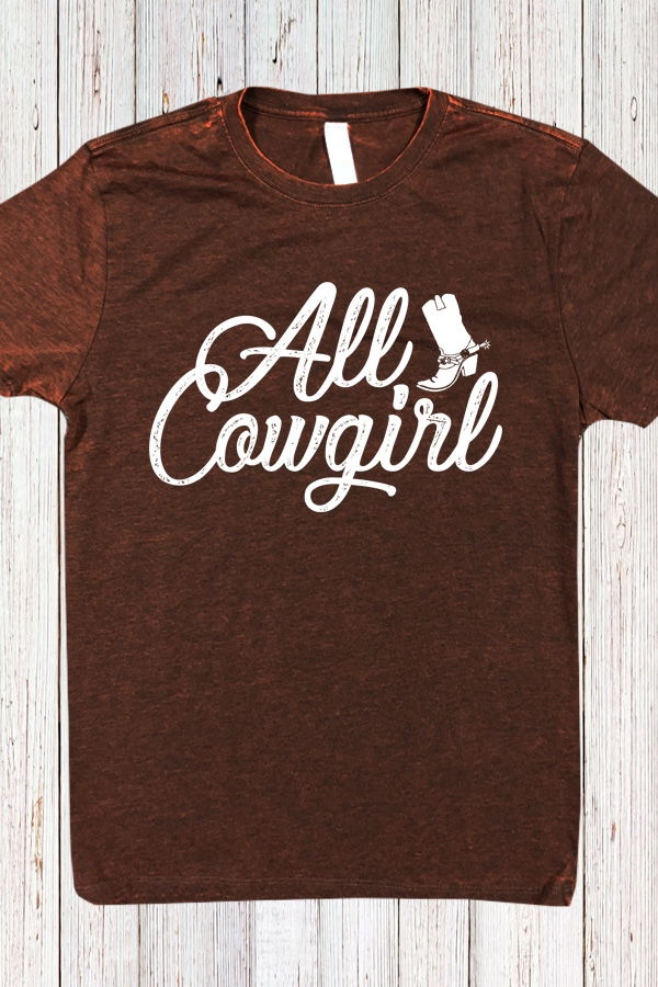 All Cowgirl Cross Dye Tee Gorgeous - orangeshine.com