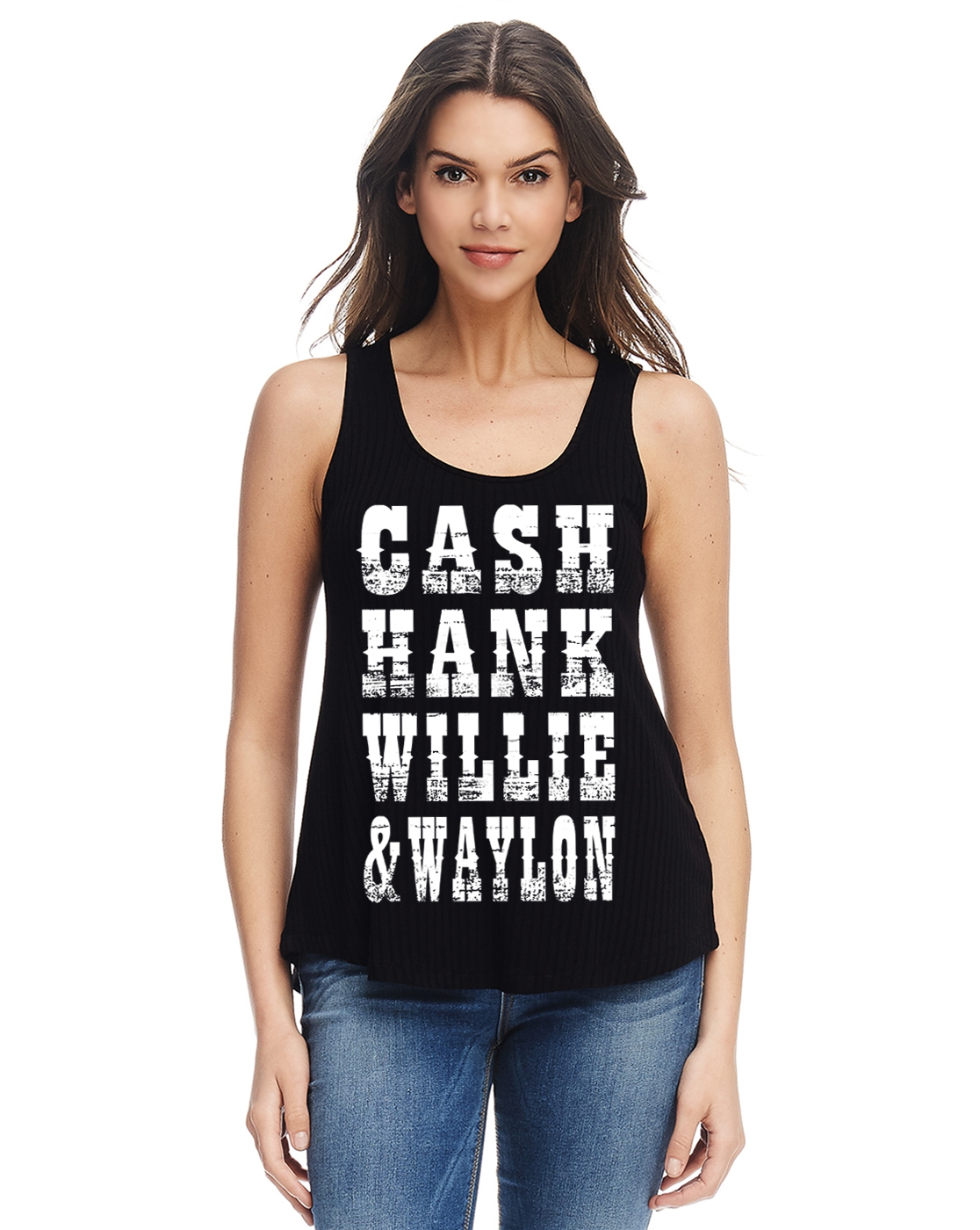 Cash urban graphic Scoop tank top - orangeshine.com