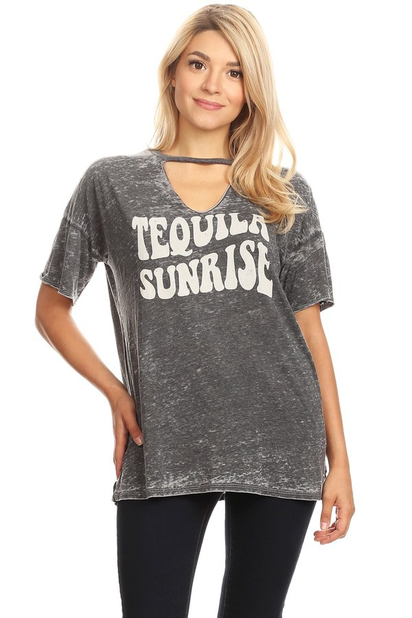 TEQUILA SUNRISE BURN OUT TOP - orangeshine.com