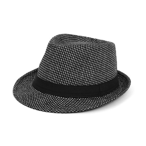 Fall-Winter Black Trilby Fedora Hat  - orangeshine.com