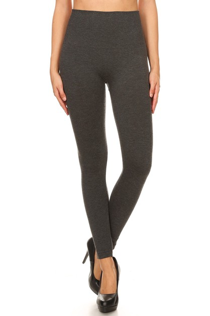 Thick Warm French Terry Leggings  - orangeshine.com