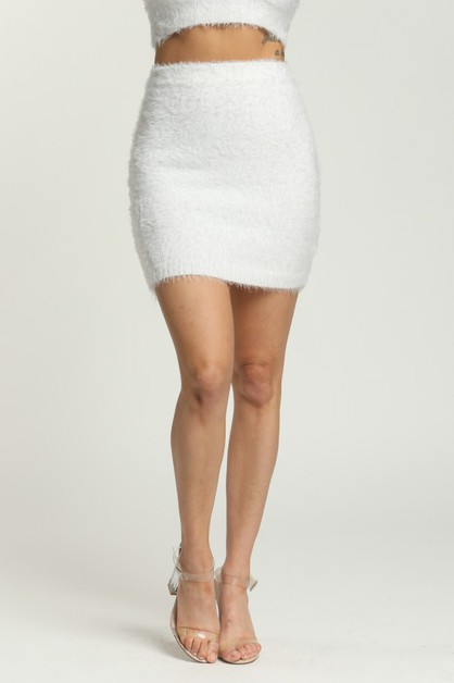 Fuzy Skirt - orangeshine.com