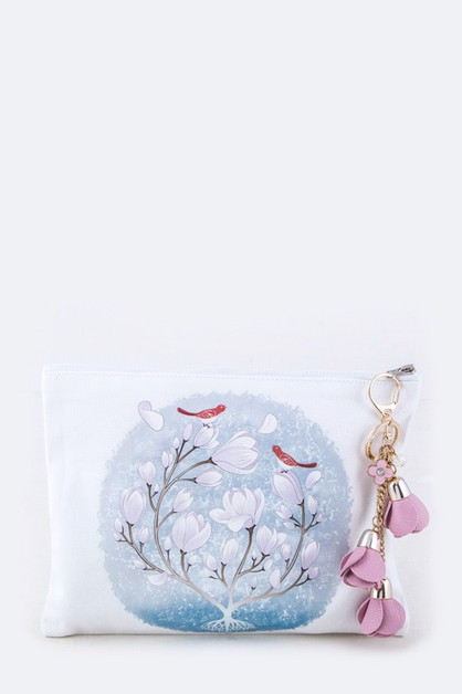 Flower Print and Charmed Pouch - orangeshine.com