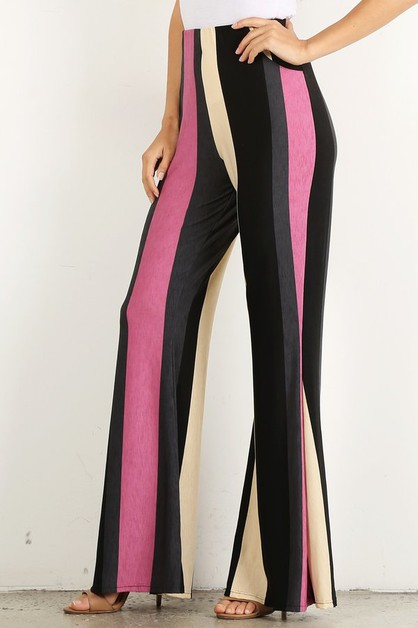Striped high waisted pants - orangeshine.com