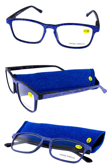 Plastic Denim Style reading glasses - orangeshine.com