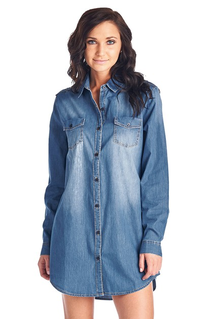 WOMENS DENIM CHAMBRAY TOP - orangeshine.com
