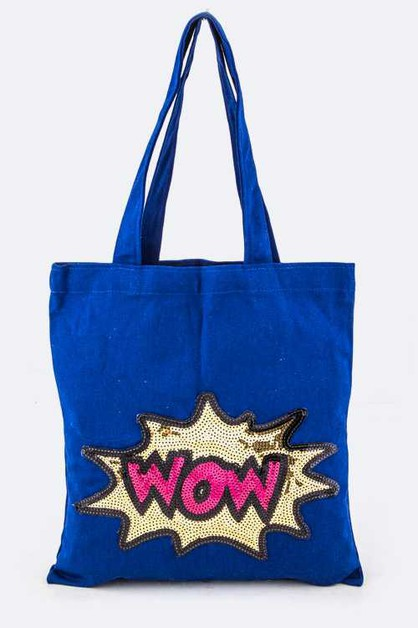 Sequins WOW Canvas Tote - orangeshine.com