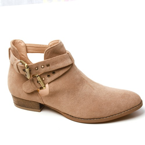 BUCKLED OPEN SHANK ANKLE BOOTIES  - orangeshine.com