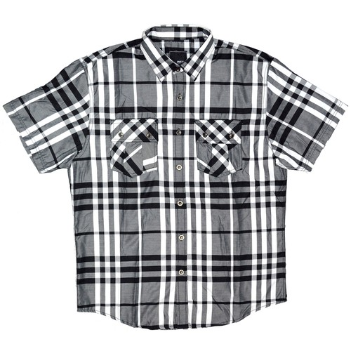Casual Short Sleeve Checker Shirts - orangeshine.com