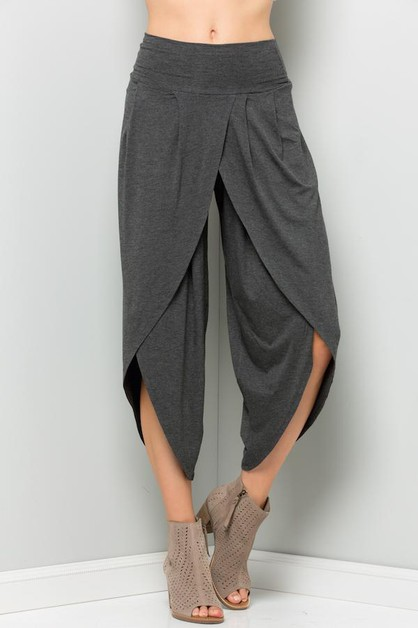 Solid Tulip Pants Plus - orangeshine.com