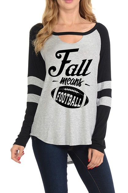FALL MEANS FOOTBALL GRAPHIC TOP - orangeshine.com