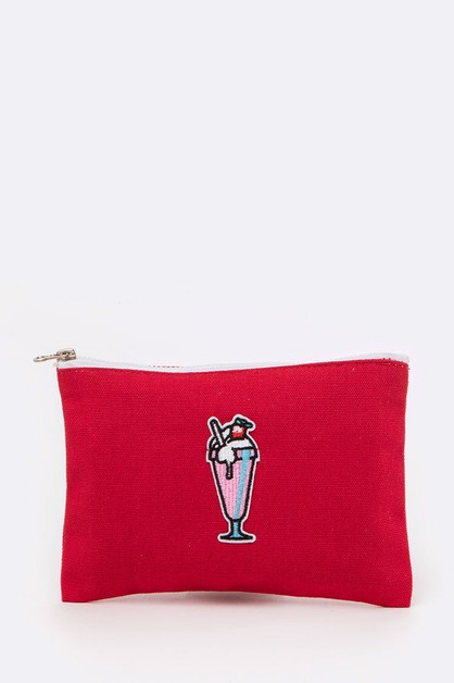 Strawberry Shake Embroidery Mini Bag - orangeshine.com