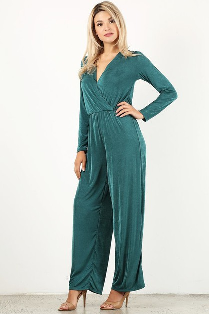 Solid jumpsuit in relaxed fit - orangeshine.com