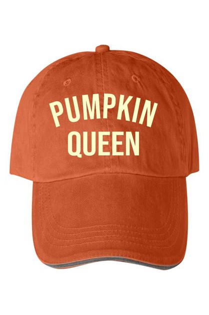 Pumpkin Queen Vintage Baseball Hat - orangeshine.com