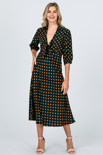 DOT PRINT DRESS  - orangeshine.com