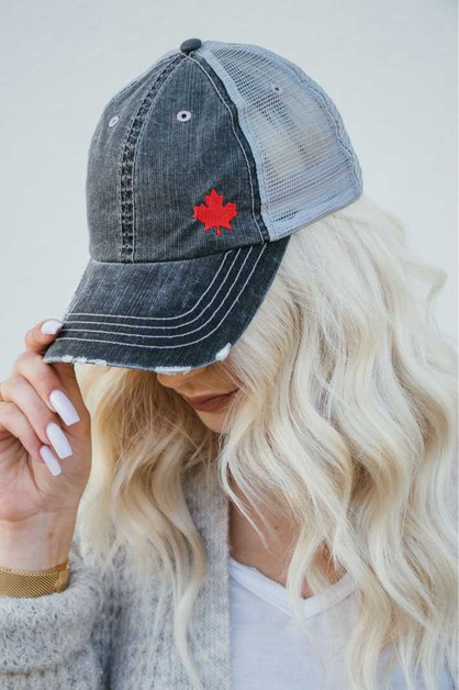 Canadian Leaf Trucker Hat - orangeshine.com