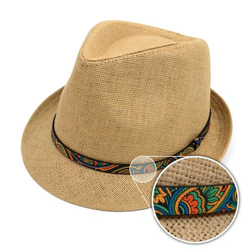 Spring-Summer Trilby Fedora with Pai - orangeshine.com