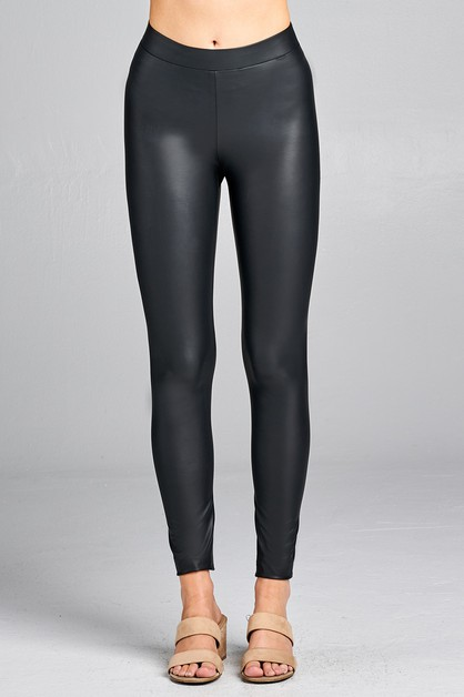 FAUX PLEATHER LEGGINGS - orangeshine.com