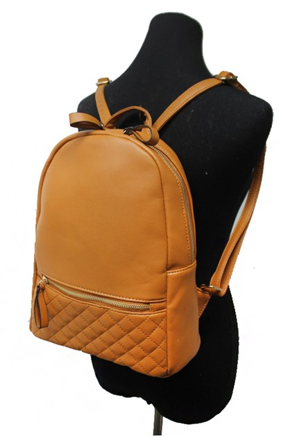 Quilted school bag backpack  - orangeshine.com