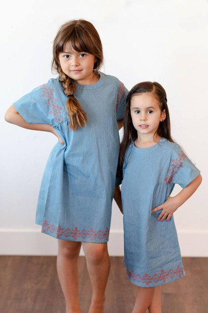 Cadence Dress - Tween Embroidery - orangeshine.com