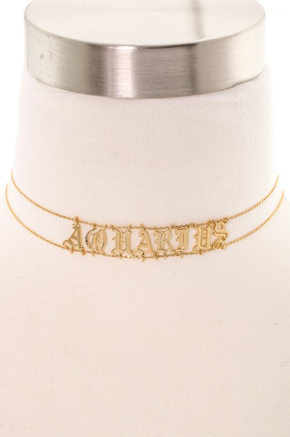 Tattoo Zodiac Signs Choker Necklaces - orangeshine.com